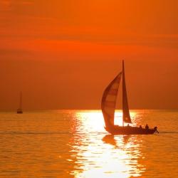 Solnedgång, arkivbild.
